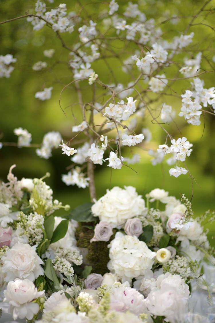 Flowers Pink White Quintessential English Elegant Soft Blush Blossom Wedding Ideas http://careysheffield.com/