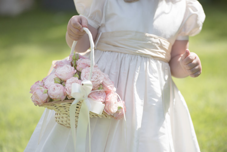 Flower Girl Rose Basket Flowers Quintessential English Elegant Soft Blush Blossom Wedding Ideas http://careysheffield.com/