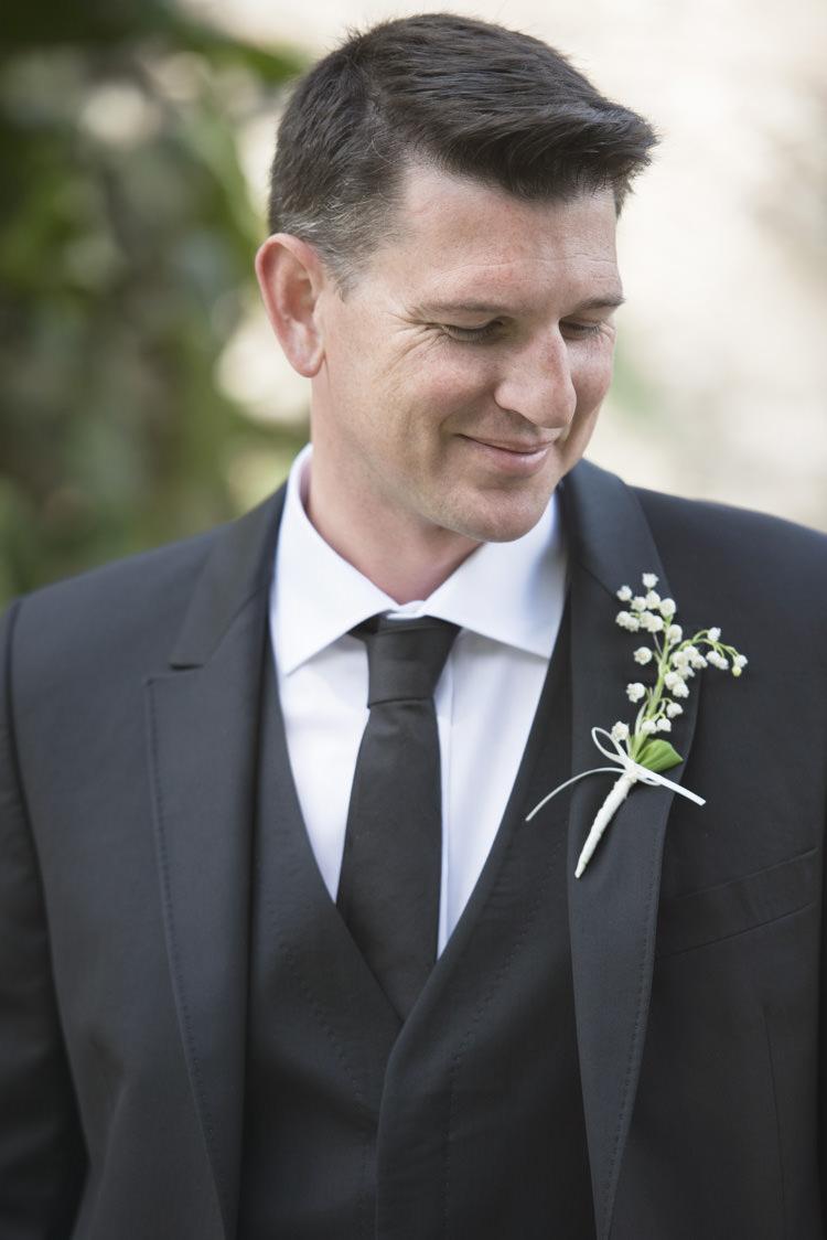 Black Tie Groom Suit Quintessential English Elegant Soft Blush Blossom Wedding Ideas http://careysheffield.com/