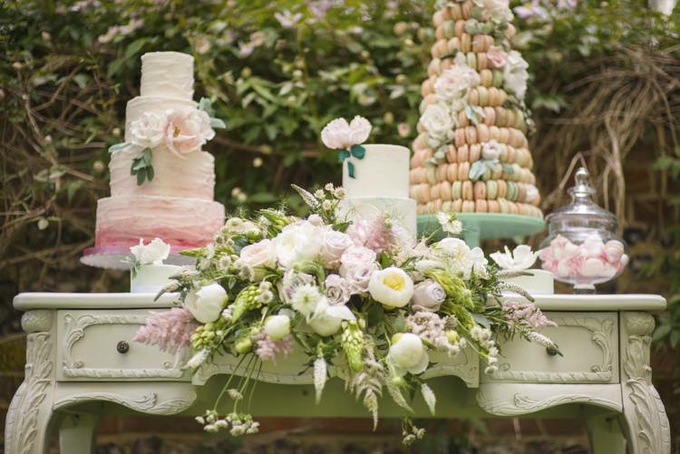 Cake Table Flowers Quintessential English Elegant Soft Blush Blossom Wedding Ideas http://careysheffield.com/