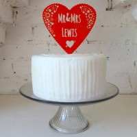 Personal Heart Love Wedding Cake Topper