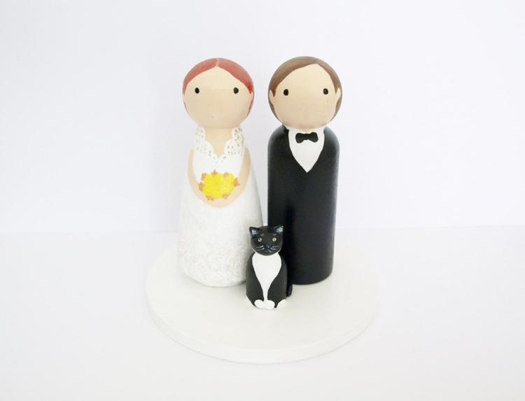 Custom Bride Groom Cake Topper Wedding