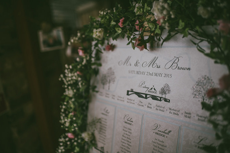 Flower Frame Table Seating Plan Chart Stationery Personal Traditional Shabby Chic Pastel Pink Wedding http://www.antony-turner.co.uk/