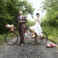 Beer Bicycles Yellow Grey DIY Budget Wedding https://jenniferlangridge.wordpress.com/