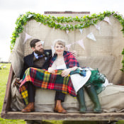 Eclectic Quirky & Home Made Emerald Green Barn Wedding
