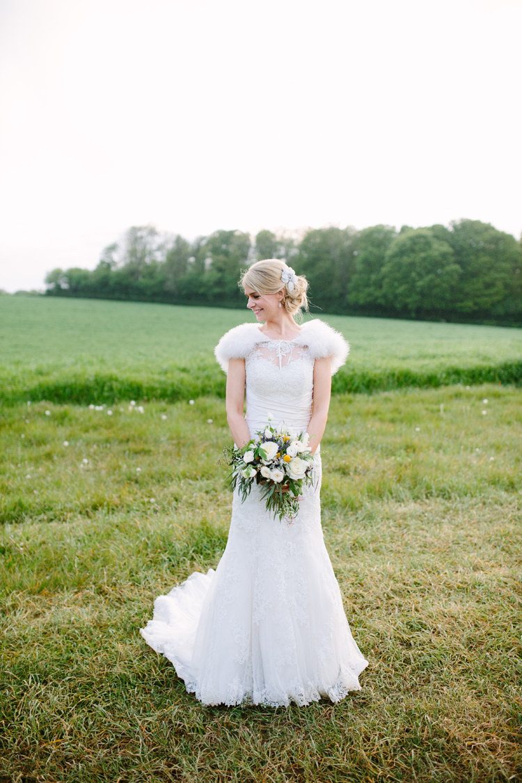 Justin Alexander 8596 Gown Dress Bride Bridal Lace Rustic Country Garden Barn Yellow Navy Wedding http://hayleysavagephotography.co.uk/