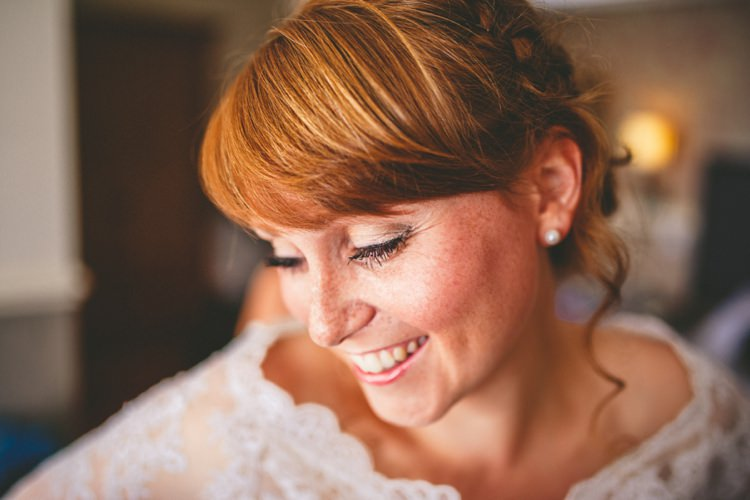 Fringe Bangs Bride Hair Style Colourful Fun Garden Yurt Wedding http://mikiphotography.info/