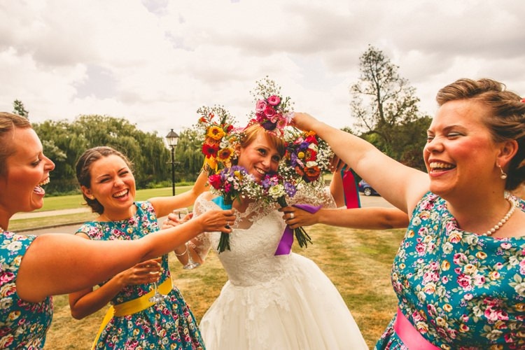 Bridesmaid Bouquets Flowers Colourful Fun Garden Yurt Wedding http://mikiphotography.info/