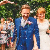 Eclectic Colourful & Fun Back Garden Yurt Wedding