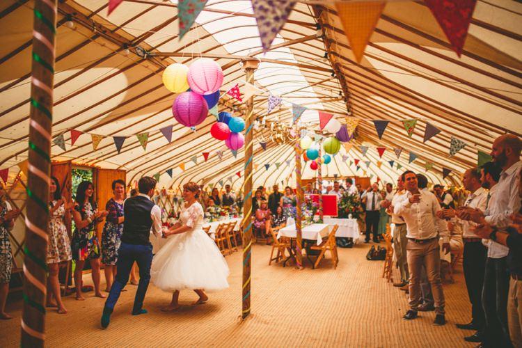 Colourful Fun Garden Yurt Wedding http://mikiphotography.info/