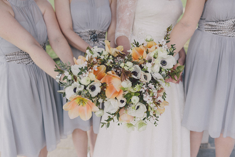 Anemone Spring Bridesmaid Bouquets Easter Barn Vintage China Wedding http://www.scuffinsphotography.com/