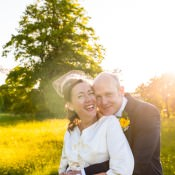 Relaxed Outdoor Tipi Sunflower Wedding with Child Naming Ceremony