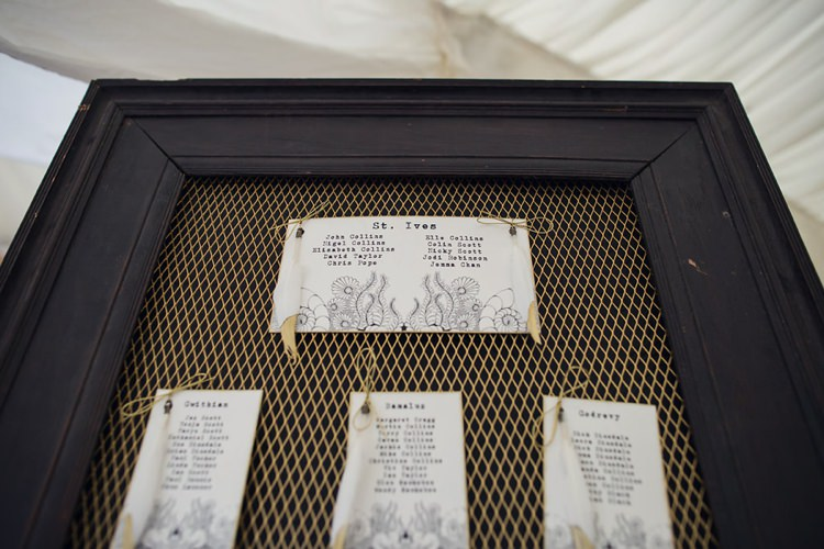 Gold Seating Plan Chart Table Indie Glam Feathers Shells Slate Sea Inspired Wedding http://assassynation.co.uk/