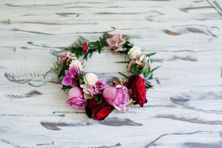 DIY Flower Crown Tutorial Bride Bridal Wedding Hair