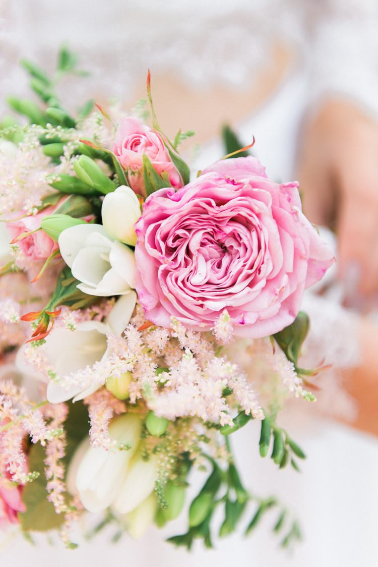 Pink Rose Peony Bouquet Flowers Bride Astilbe Beautiful Botanical Bridal Inspiration http://www.folegaphotography.co.uk/