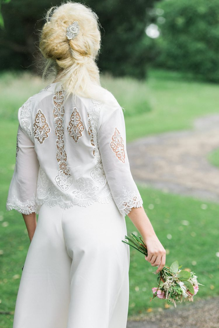 Jumpsuit Bride Outfit Beautiful Botanical Bridal Inspiration http://www.folegaphotography.co.uk/