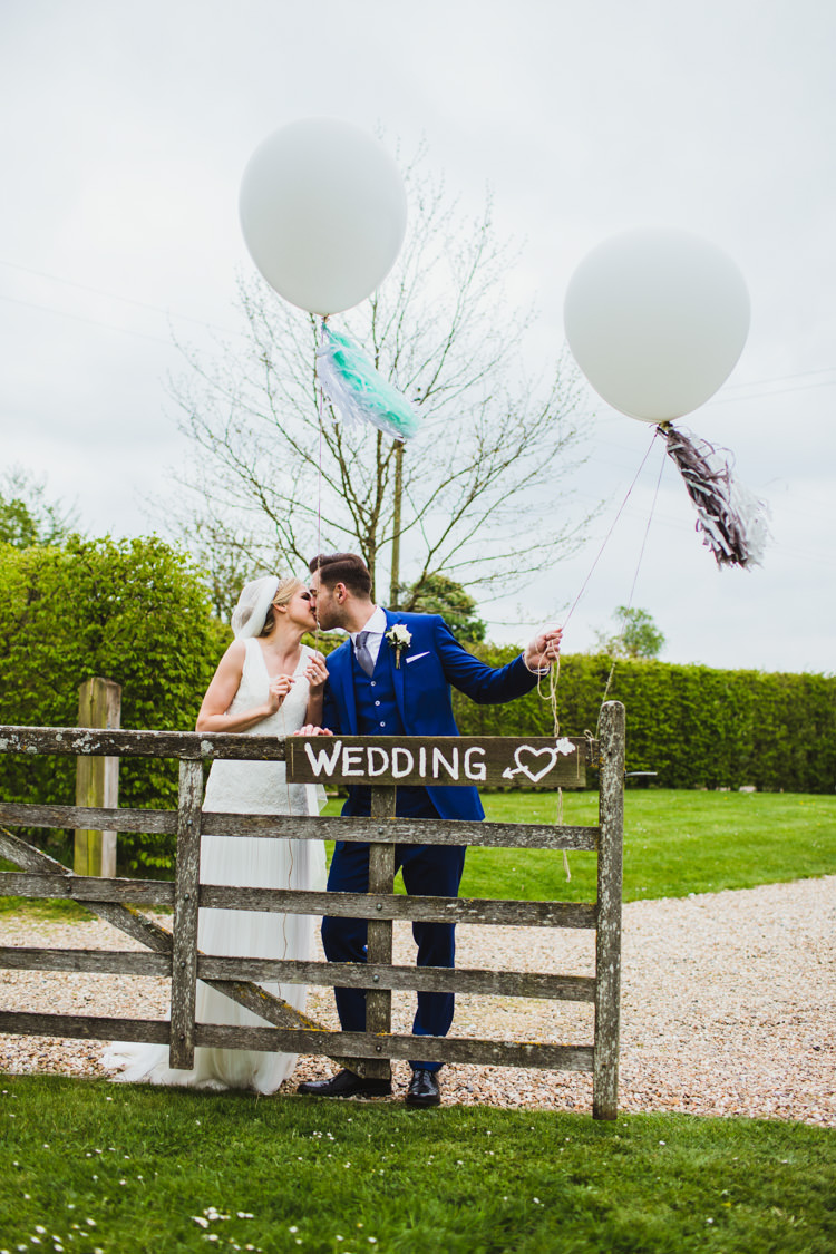 Balloons Tassels Very Casual Country Barn Wedding http://amybphotography.co.uk/