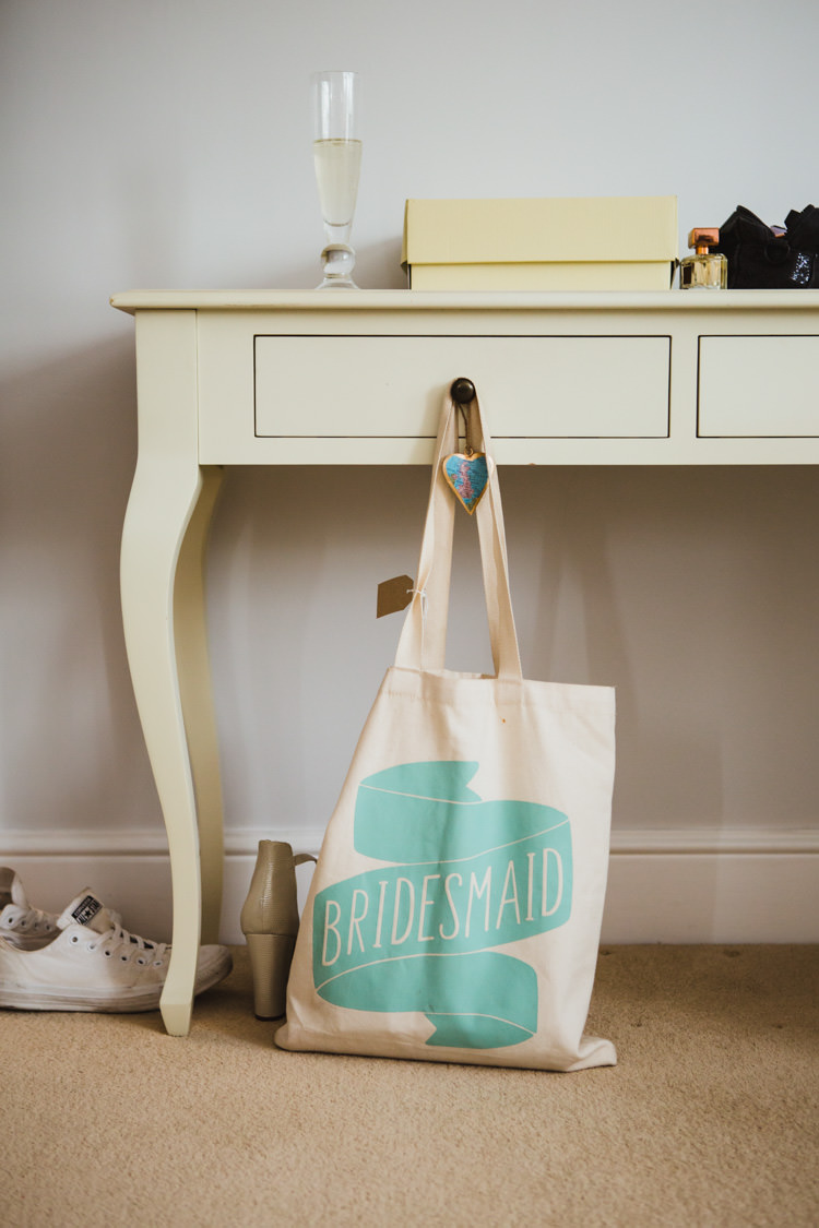 Alphabet Bags Bridesmaid Tote Very Casual Country Barn Wedding http://amybphotography.co.uk/
