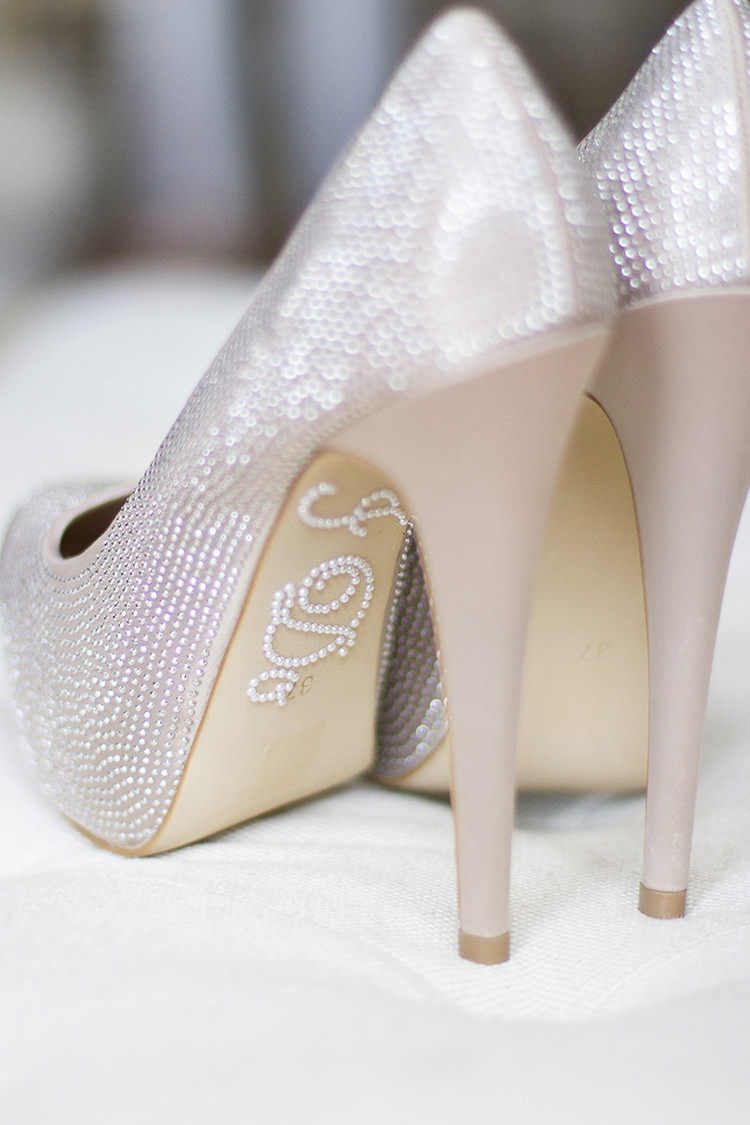 Diamonte Shoes Sparkle I Do Bride Bridal Modern Classic Grey White Chic Elegant Wedding http://www.chanelleknapp.com/