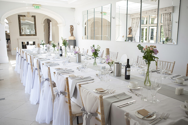 Modern Classic Grey White Chic Elegant Wedding http://www.chanelleknapp.com/