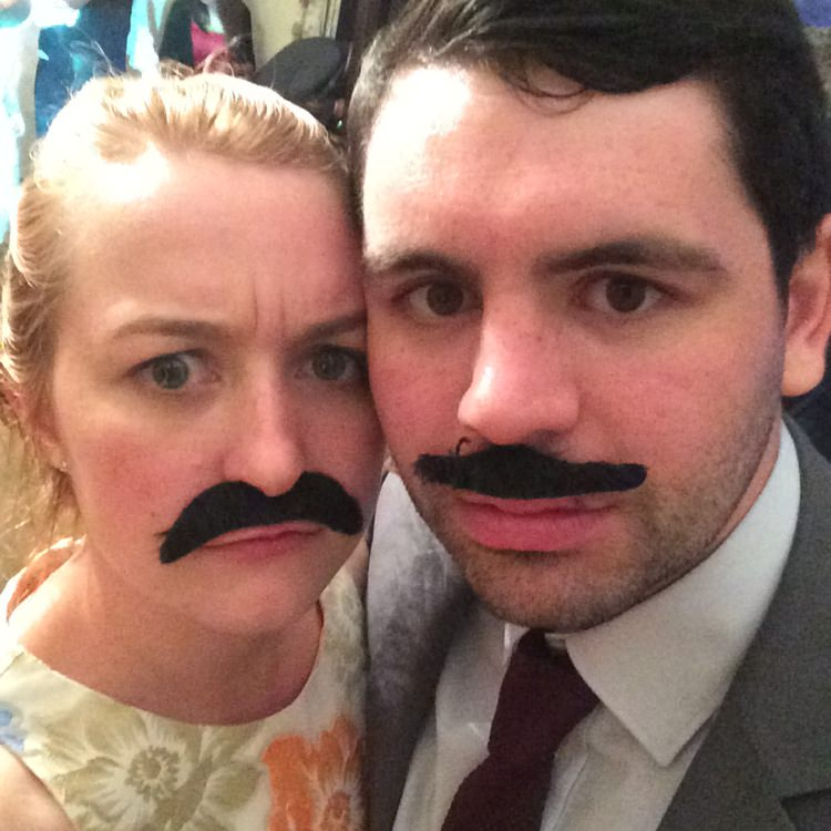 WWW Getting our 'tache on at Sam and Rachael's wedding