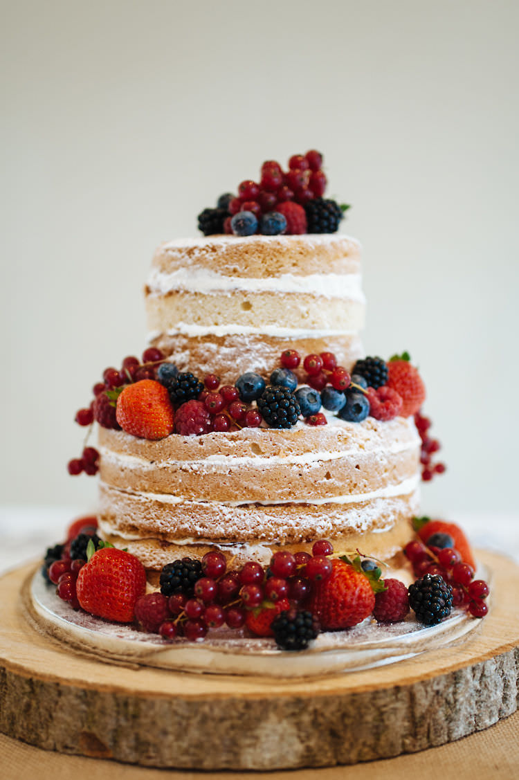 Naked Cake Sponge Layer Fruit Buttercream Berries Classic English Country Garden Cotswolds Wedding http://www.chris-seddon.co.uk/