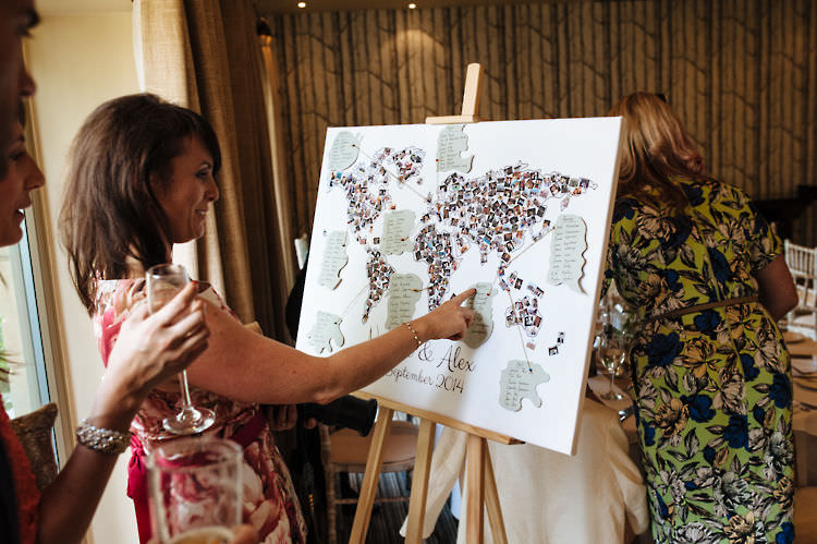 Map Travel Seating Plan Table Chart Classic English Country Garden Cotswolds Wedding http://www.chris-seddon.co.uk/