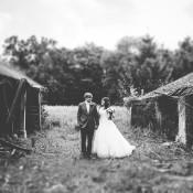 Rustic Meets Modern Yellow & Green Barn Wedding