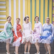 1950s Inspired Seaside Pastel Home Made Wedding