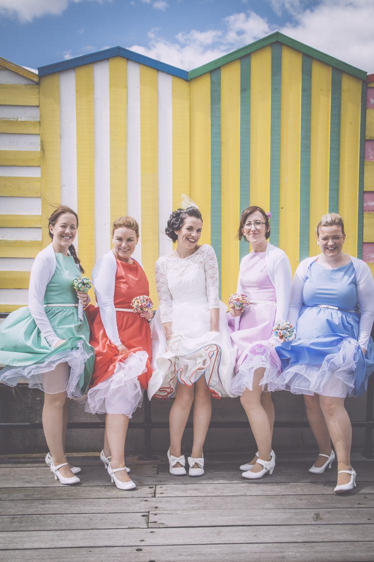 1950s Seaside Home Made Wedding http://www.kookyweddings.co.uk/