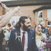 Bright & Fun Multicoloured Wool Pom Pom Crafty Wedding