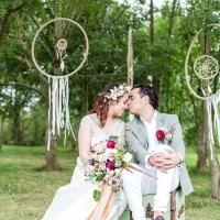 Romantic Boho Metallic Wedding Ideas http://www.sarahbrookesphotography.com/