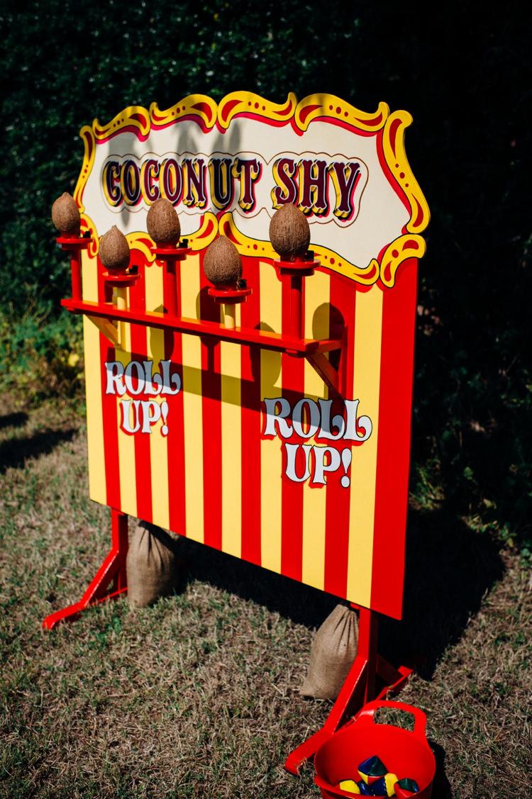 Fete Games Coconut Shy Garden Music Festival Double Decker Bus Marquee Wedding http://www.mariannechua.com/