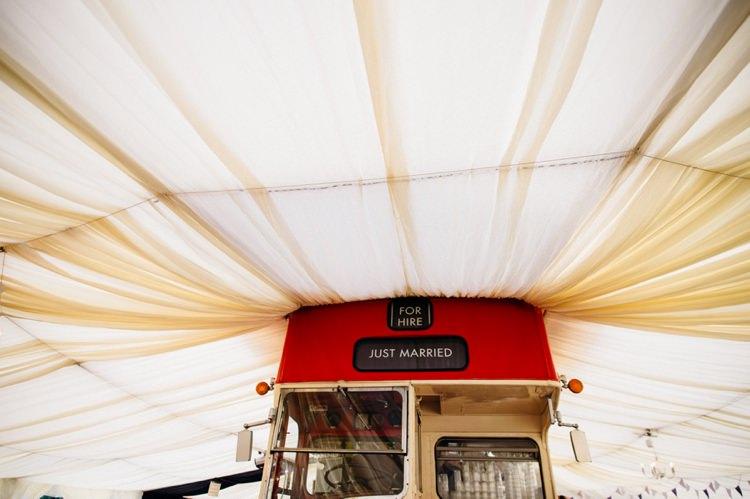 Garden Music Festival Double Decker Bus Marquee Wedding http://www.mariannechua.com/