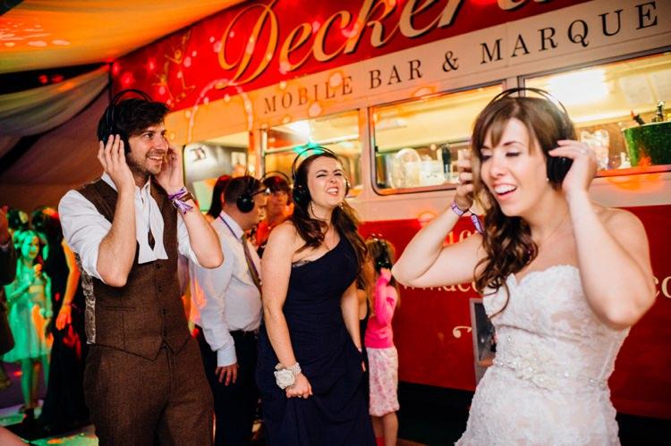 Silent Disco Garden Music Festival Double Decker Bus Marquee Wedding http://www.mariannechua.com/