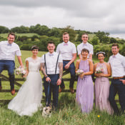 Quirky & Sweet Lilac Country Barn Wedding with Pug Dougie