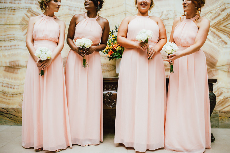 Long Pink Bridesmaid Dresses Casual Relaxed Outdoor Country Rustic Pub Wedding http://www.alextentersphotography.co.uk/