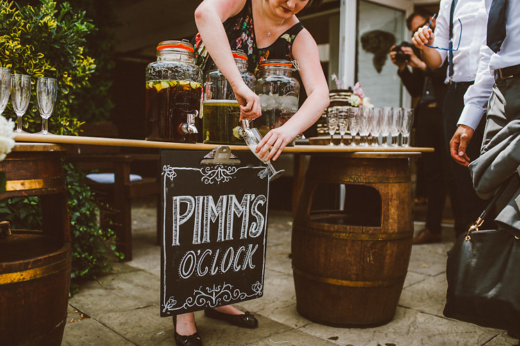 Pimms Drink Station Casual Relaxed Outdoor Country Rustic Pub Wedding http://www.alextentersphotography.co.uk/