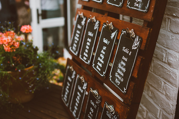 Black Board Clip Table Seating Plan Chart Casual Relaxed Outdoor Country Rustic Pub Wedding http://www.alextentersphotography.co.uk/