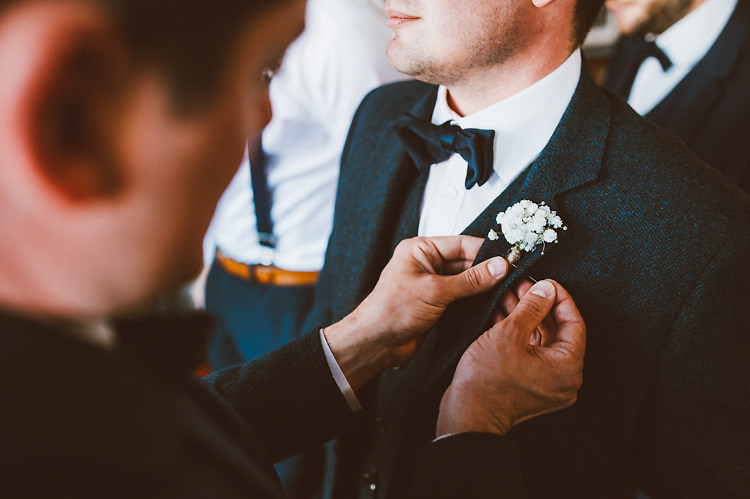 Gypsophila Buttonhole Casual Relaxed Outdoor Country Rustic Pub Wedding http://www.alextentersphotography.co.uk/