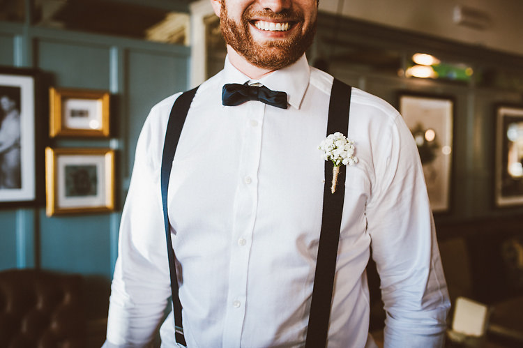Bow Tie Braces Groom Casual Relaxed Outdoor Country Rustic Pub Wedding http://www.alextentersphotography.co.uk/
