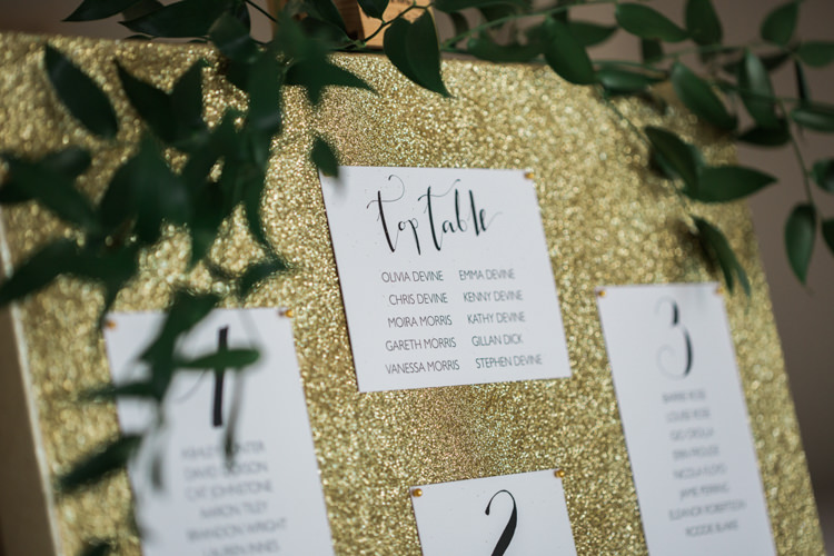 Seating Table Plan Seating Chart Glitter Gold Mint Pink DIY Outdoor Garden Beach Wedding http://www.carleybuickphotography.com/