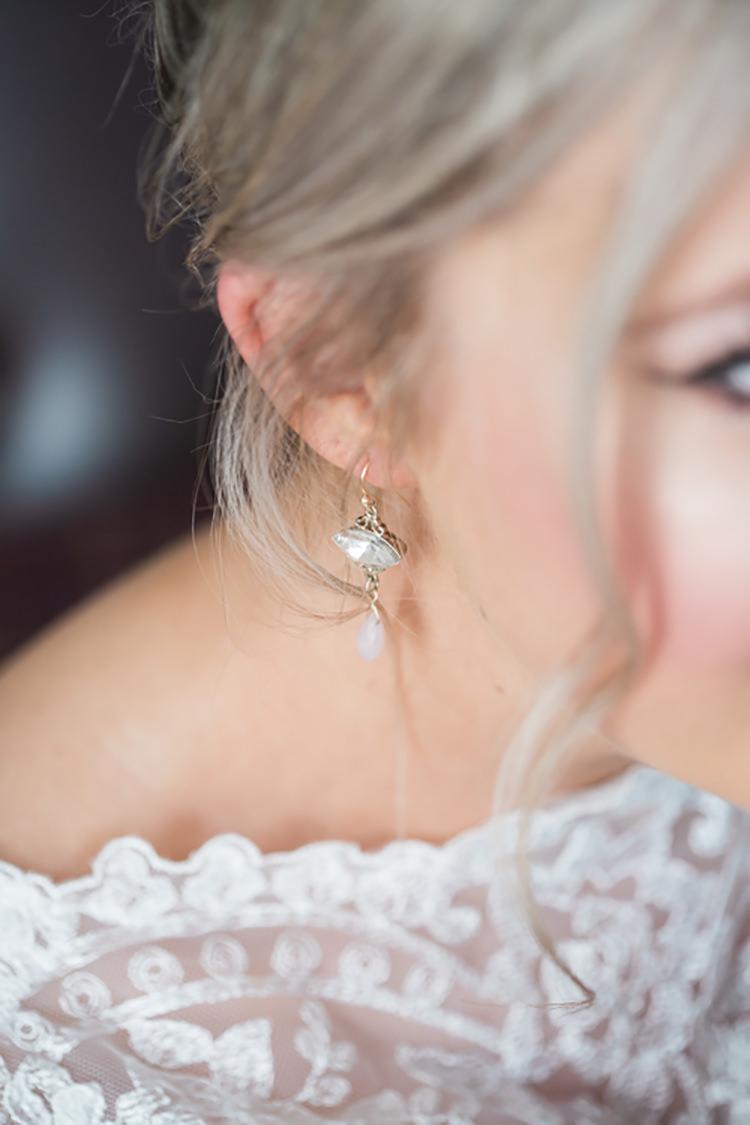 Earrings Bride Bridal Glitter Gold Mint Pink DIY Outdoor Garden Beach Wedding http://www.carleybuickphotography.com/