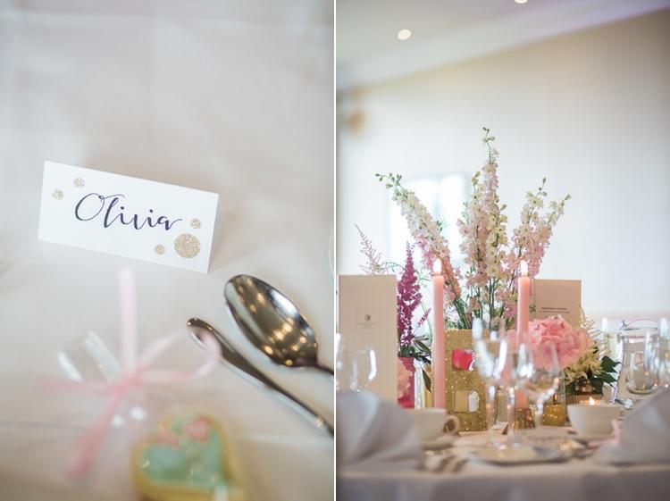 Glitter Gold Mint Pink DIY Outdoor Garden Beach Wedding http://www.carleybuickphotography.com/