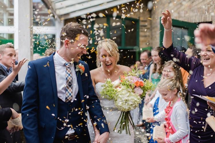 Confetti Bride Groom Festival Tipi Bluebell Woods Wedding http://alexa-loy.com/