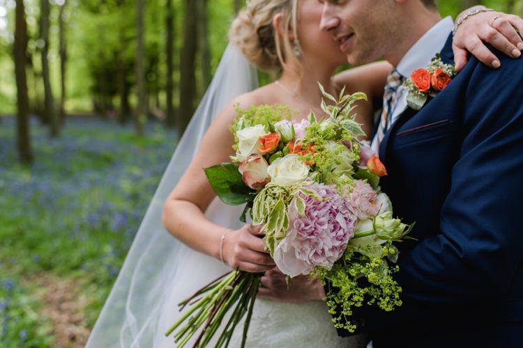 Peony Rose Bouquet Flowers Bride Bridal Orange Pink Festival Tipi Bluebell Woods Wedding http://alexa-loy.com/