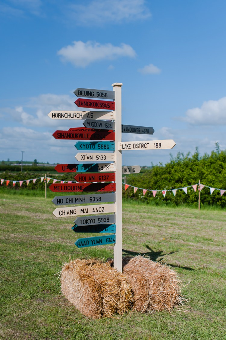Travel Sign Post Festival Tipi Bluebell Woods Wedding http://alexa-loy.com/