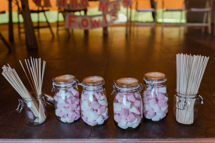 Smores Marshmallow Toasting Festival Tipi Bluebell Woods Wedding http://alexa-loy.com/