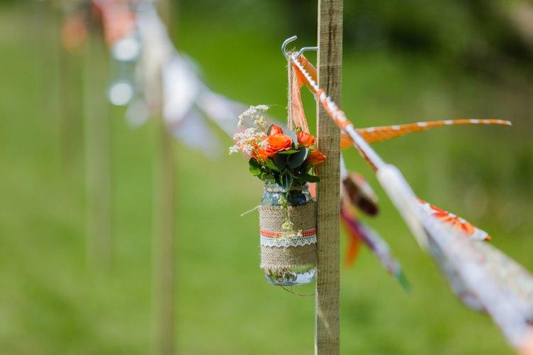 Jar Flowers Aisle Festival Tipi Bluebell Woods Wedding http://alexa-loy.com/