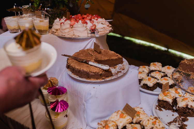 Dessert Cake Table Festival Tipi Bluebell Woods Wedding http://alexa-loy.com/